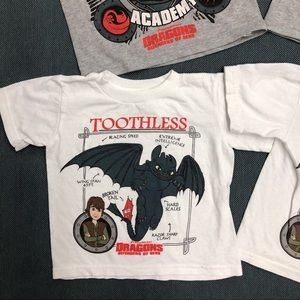 148bc360c Dreamworks Shirts   Tops - GUC HTTYD Toothless   Hiccup Set of 4 Tees!